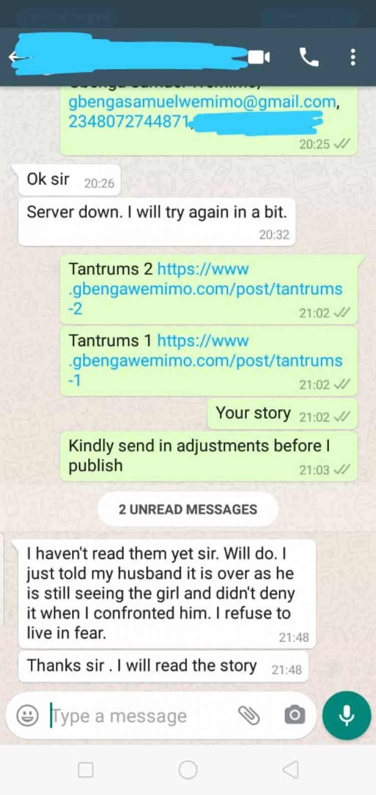 Tantrums 1